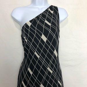 RALPH LAUREN One Shoulder Maxi Dress with Slit